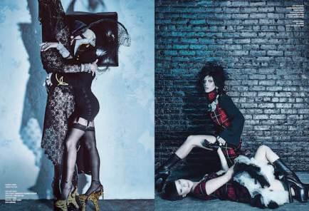 V Magazine, Lady Gaga & Daphne Guinnes by Steven Klein