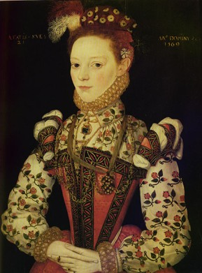 Young Elizabeth 1 of England.
