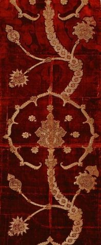 Turkish brocaded velvet 16th century.