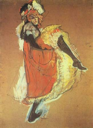 Jane Avril Dancing. Henri de Toulouse-Lautrec